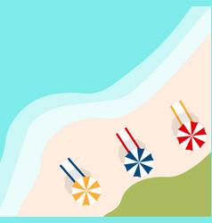 A banner with an landscape beach vector