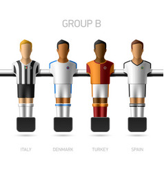 Table football foosball players group b vector
