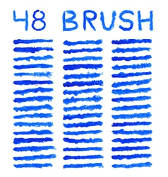 blue brushes vector image