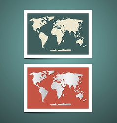 World map set vector