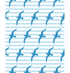 Seamless sea pattern with seagull vector