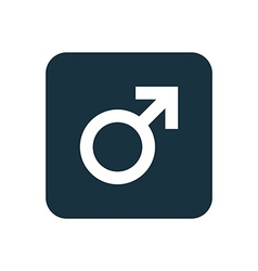 Male symbol icon rounded squares button vector