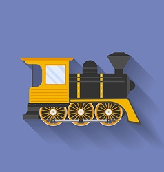 Icon of steam locomotive or puffer flat style vector