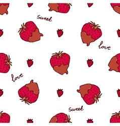 Seamless pattern with doodle heart shaped vector