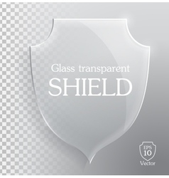 Transparent glass shield vector