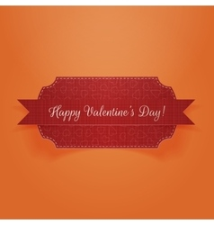 Valentines day realistic red ribbon and banner vector