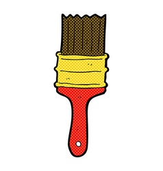 Comic cartoon paint brush vector