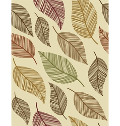decorative vintage leaves seamless pattern vector image