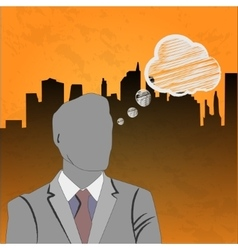 businessman thinking conceptual vector image