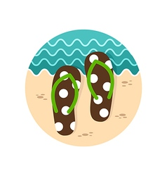 Flip flops icon summer vacation vector