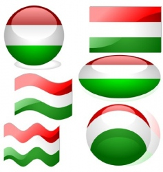 Hungary flags vector