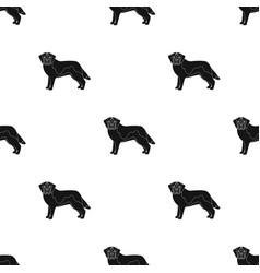 Beagle single icon in black stylebeagle vector
