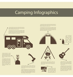 Camping Infographics vector image vector image