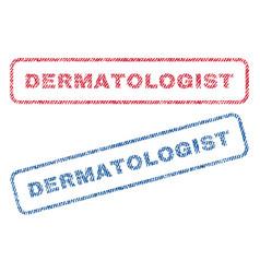 Dermatologist textile stamps vector
