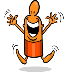 Excited guy cartoon vector
