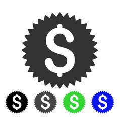Financial seal flat icon vector