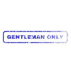 gentleman only rubber stamp vector image vector image