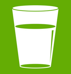 glass water icon green vector image vector image