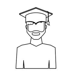 Graduate man avatar character vector