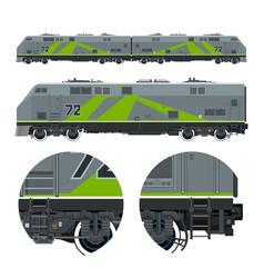 Green locomotive rail transportation vector