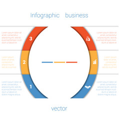 Infographic strips and semicircle 3 vector