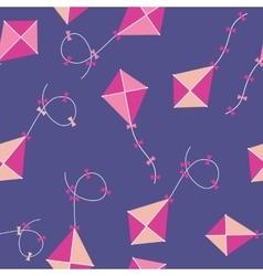 Kite seamless pattern background vector