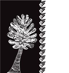 Leaves pattern zen tree vector