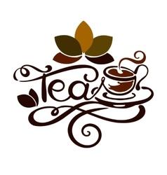Lettering - word tea vector