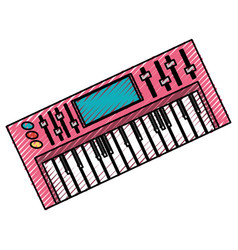 Musical keyboard technology vector