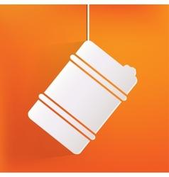 Oil barrel icon vector image vector image