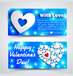 Romantic amour horizontal banners vector