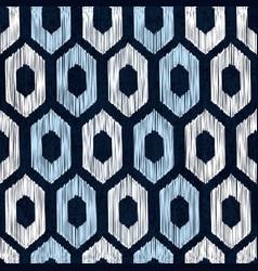 Sashiko seamless indigo dye pattern vector