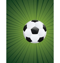 Soccer Ball on Rays Background2 vector image