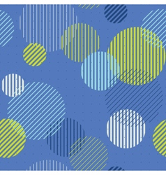 Striped circles seamless pattern vector image vector image