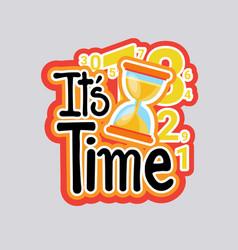 time sticker social media network message badges vector image vector image