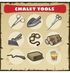 Wild West icons set tools vector image