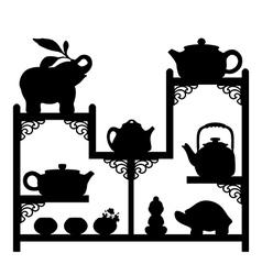 Teapots vector image