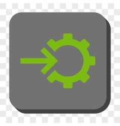 Cog Integration Rounded Square Button vector image