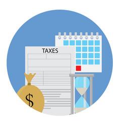 tax icon concept vector image
