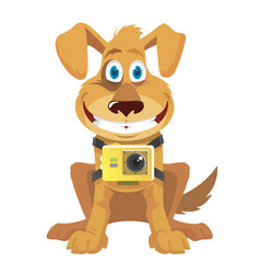 action puppy vector image
