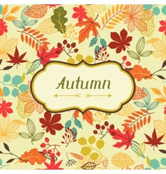 Background of stylized autumn leaves for greeting vector