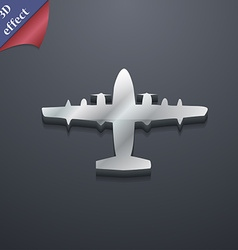 Aircraft icon symbol 3d style trendy modern design vector