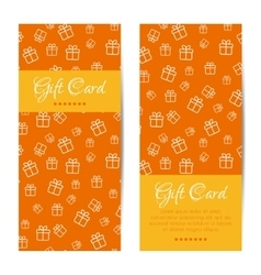 Vertical gift cards banners brochures set vector