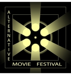 Alternative movie festival cinema film festival vector