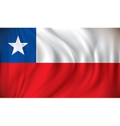 Flag of chile vector