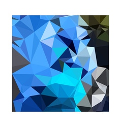Air force blue abstract low polygon background vector