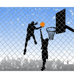 Basketball in the street vector