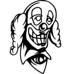 Evil clown - halloween set - vector