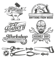 Workshop emblem vector