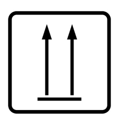 Up sign icon vector